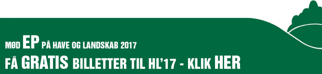 Få din gratis billet til Have & Landskab gennem Erenfred Pedersen A/S her