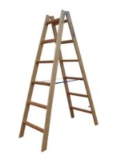 Træstige, 1,69 m / 2x6 trin