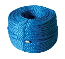 Polyreb, Blå, 3-slået, 6 mm