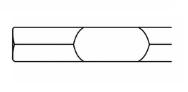 Spidsmejsel, Hex28, 500 mm
