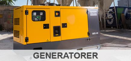 Se vores skarpe tilbud inden for kategorien generatorer. Find de mindre generatorer, såsom Worms Access 2000i og Access 3000i, men også de større Atlas Copco Generatorer fra både QES-serien og QAS-serien.