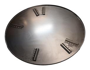 Glittetallerken, t/BG76, Ø950 mm