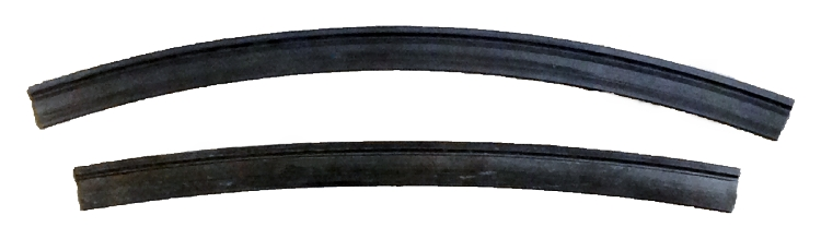 Gummilister, 370 mm, 2 stk