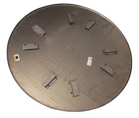 Glittetallerken t/BG92 (2 stk.), Ø1160 mm