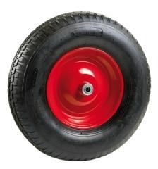 Hjul, f/mørtel- og trillebør, luftgummi