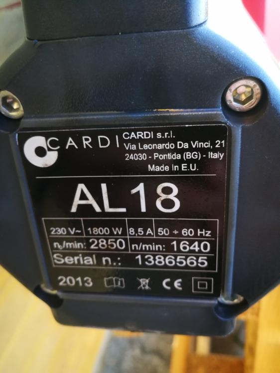 Cardi AL 18, Brugt kædesav