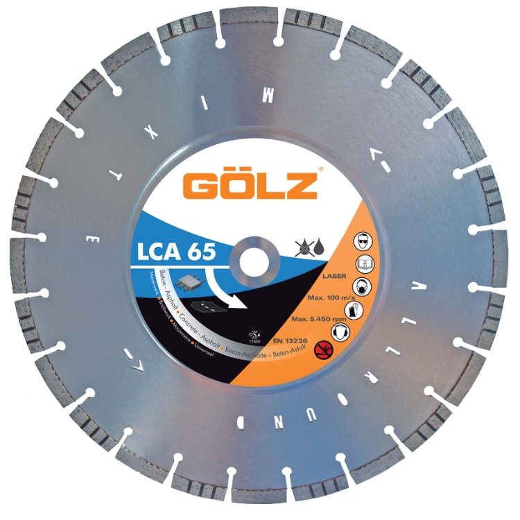 Gölz LCA 65, Ø400x25,4 mm, Diamantskive