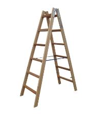 Træstige, 1,70 m / 2x6 trin